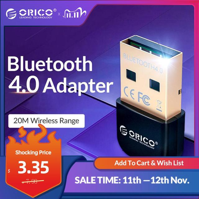 Orico Usb Bluetooth Dongle Adapter 4.0 Mini Draadloze Bluetooth Audio Receiver Zender Voor Pc Computer Laptop Speaker Muis