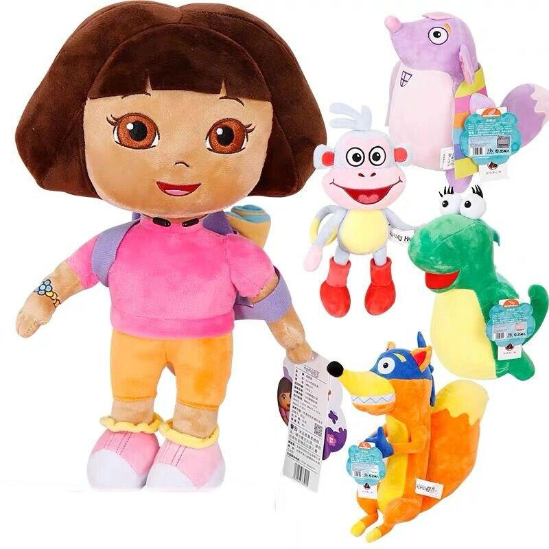 HOT Echt 15-30cm Dora the Explorer Laarzen swiper cartoon Pluche Soft gevulde Doll Kinderen Speelgoed kinderen Verjaardag gift