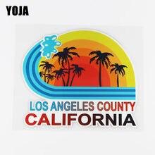 YOJA-pegatina de vinilo para coche, pegatina decorativa para coche con diseño de dibujos animados del país de LOS Ángeles y CALIFORNIA, 15,9x13,3 cm, 19A-0043