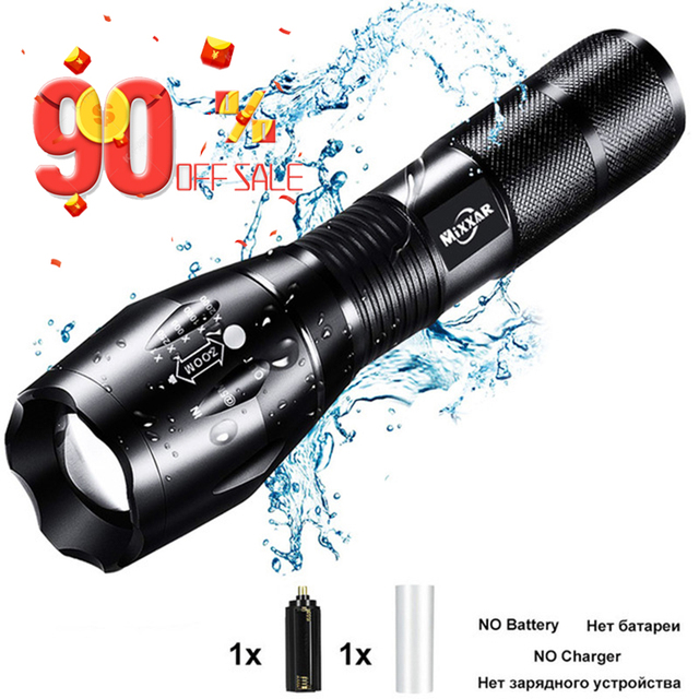 ZK90 Led flashlight Ultra Bright torch T6 Camping light 5 switch Modes Q250 TL360 EDC waterproof Zoomable Torch Bicycle Light 1