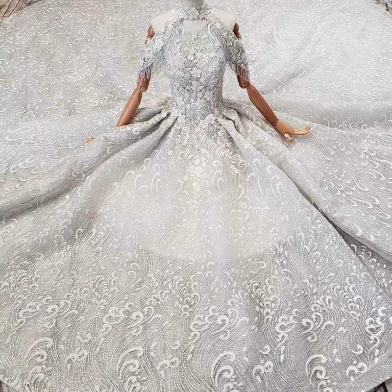 HTL691 suknia wieczorowa sukienka z pociągu wysokiej łańcuszek aplikacje frezowanie luksusowe długie suknie balowe plus rozmiar vestiti da sera