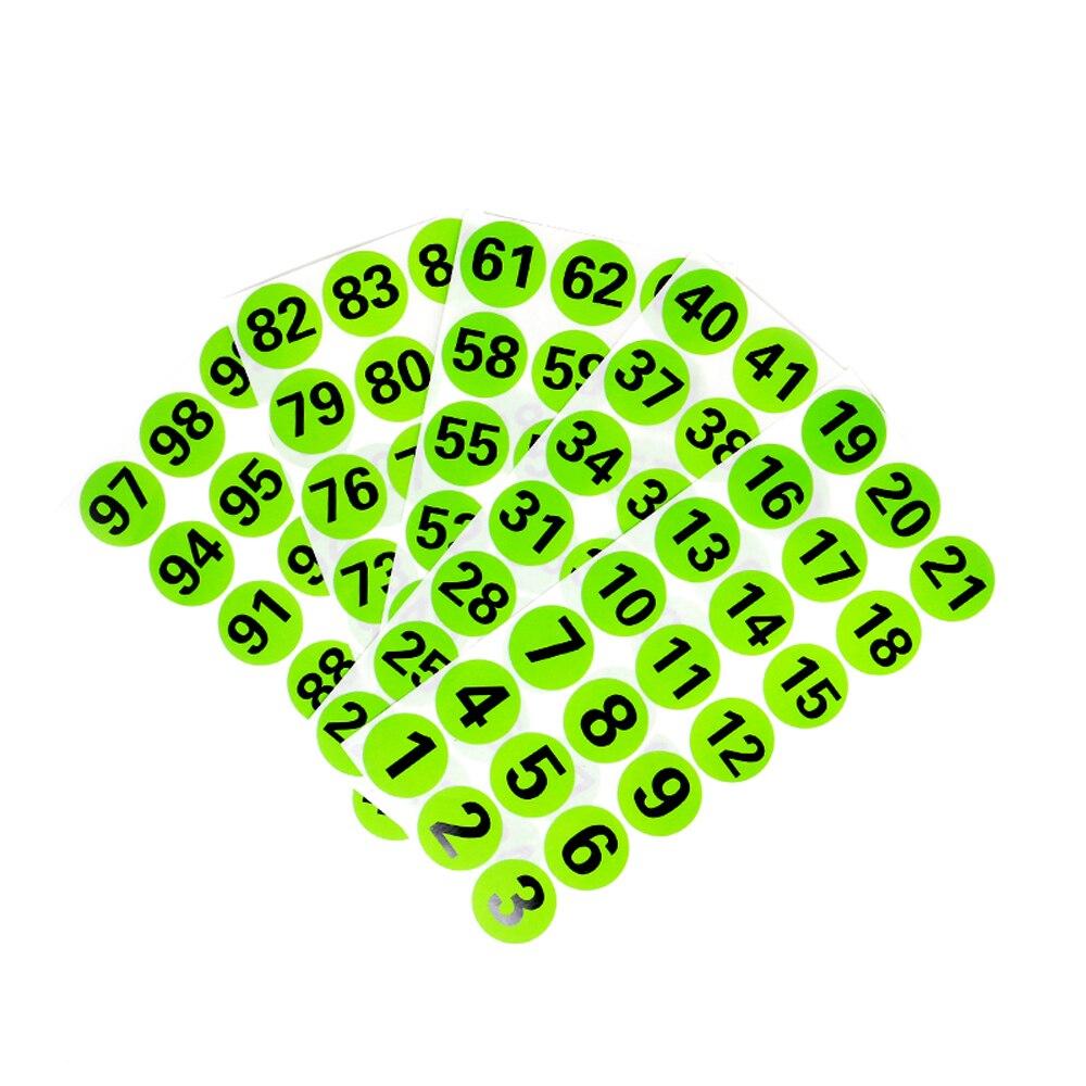 20*20mm 1-500 número de cópias adesivos adesivo