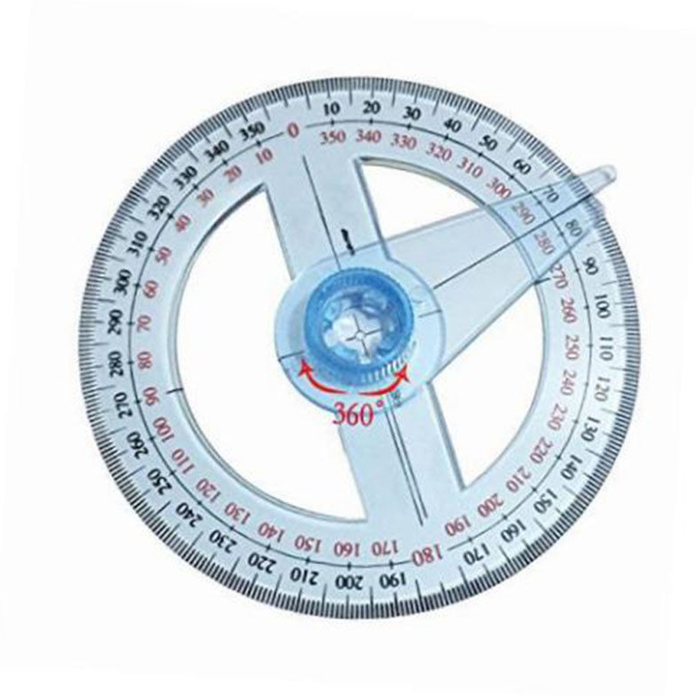360° Plastic Degree Protractor Angle Edge Finder Measuring Ruler Student Tool