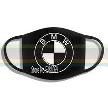 Bmw logotipo reusável e lavável artesanal adulto preto uso diário máscara