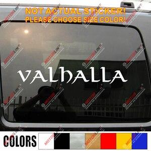 Valhalla lettering Decal Stick
