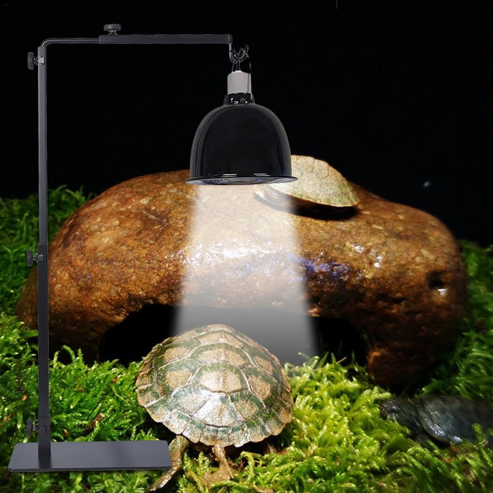 Adjustable Telescopic Reptile Lamp Stand Heating Lamp Holder Metal Floor Lamp Bracket For Lizard Tortoise Turtle Pet Supplies