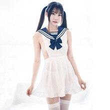 Robe de nuit Sexy, Costume de fille de lécole, sous vêtements Anime japonais, vêtements de Cosplay marine