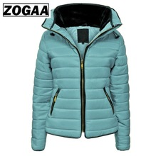 ZOGAA Hot Sale Women Coats Winter Jacket Parka Women Brand Hooded Coat Causal Slim Fit Solid Color Winter Girl Thick Clothing zogaa 2019 fashion brand hoodie men sleeveless sweatshirts solid color causal slim fit hooded coat mens hoodies clothing
