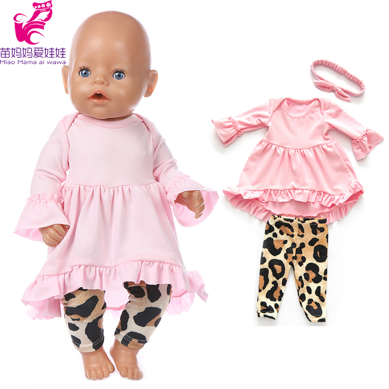 43cm New Born Baby Doll Clothes Summer Shirt 18 Inch American OG Girl Doll Dress