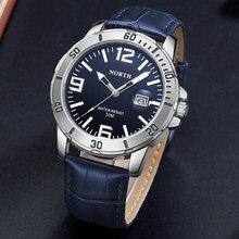Kuzey saatler erkek üst marka lüks iş rahat moda deri kayış izle su geçirmez kuvars kol saati Relogio Masculino
