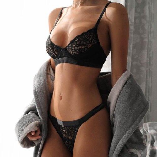 Sexy Lingerie   Set   Women Push Up Lace   Bra   Bralette G-string Thong   Brief     Sets   Wireless   Bras   Sleepwear Underwear