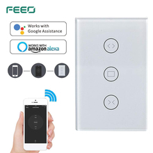 FEEO WiFi Curtain Wall Switch Shutter, Blind, Slide Remote Control for Smart Home System (Curtain Switch)
