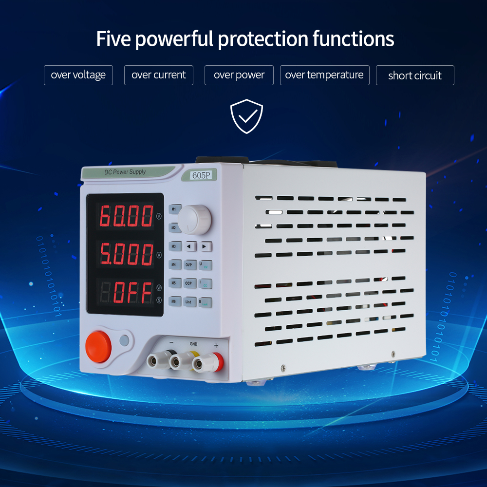 605P Programmable DC Linear Power Supply With LED Digital Display 4