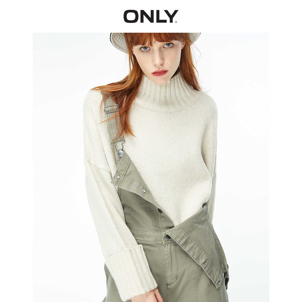 가을 겨울 여성의 느슨한 맞는 모의 목 니트 스웨터 | 119313516