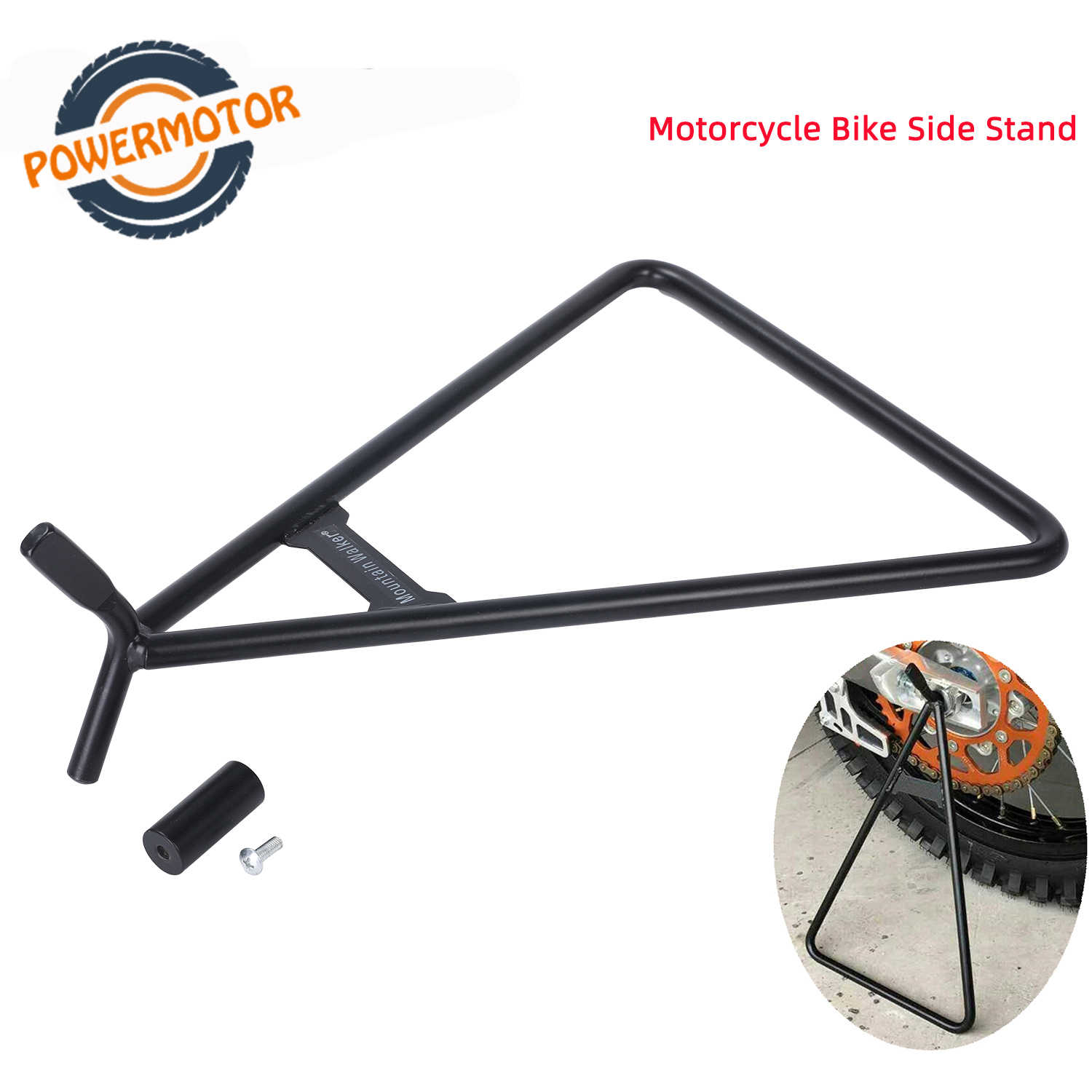 Black Triangle Stand Universal for Motorcycle Dirt Bike MX Motocross MC