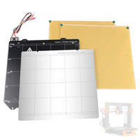 3D Printer Accessories MK52 Magnetic Heating Bed + Steel Plate + with Adhesive PEI x 2 for Prusa Mk3/Mk3S