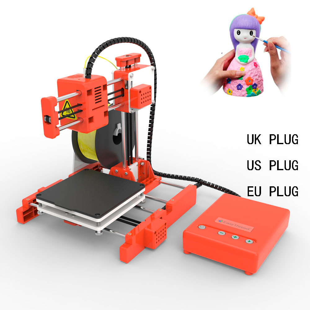 High Quality Mini 3D Printer For Household Education & Students 100*100*100mm Printing Size Support One Key Printing