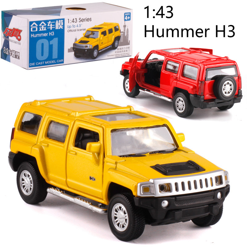 Caipo 1:43 Pull-back Car H3 Alloy  Diecast Metal Model Car For Collection & Gift & Decoration