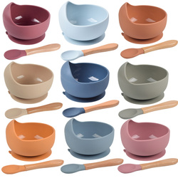 Baby Silicone Bowl FeedingTableware Spoon Waterproof Suction Bowl Children's Tableware Silicone Plate Set Dishes Kitchenware