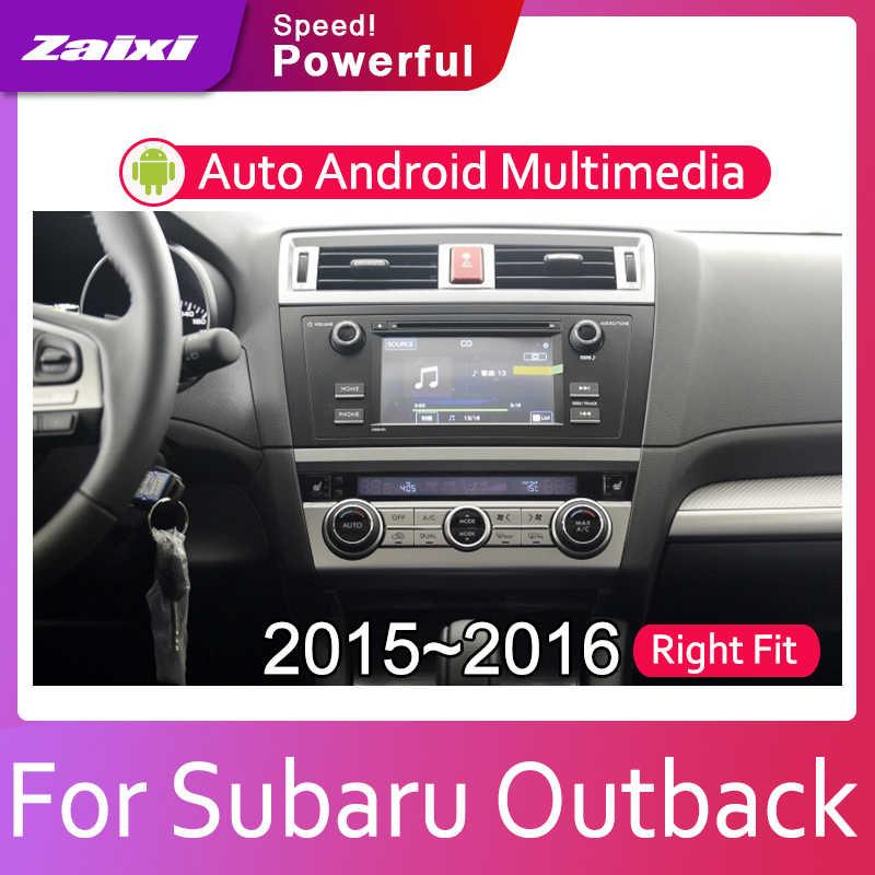 ZaiXi 2din カーマルチメディア Autoradio カーラジオの Gps プレーヤースバルアウトバック用 2015 〜 2016 の Bluetooth Wifi ミラーリンクナビ
