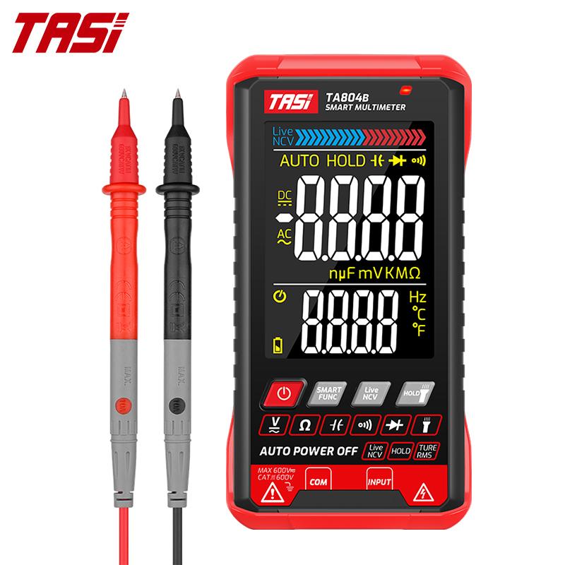 TASI TA804AB DIGITAL MULTIMETER Professional Auto Tester Multimeter HD Color Screen Ultrathin Intelligent OHM NCV Voltage Meter