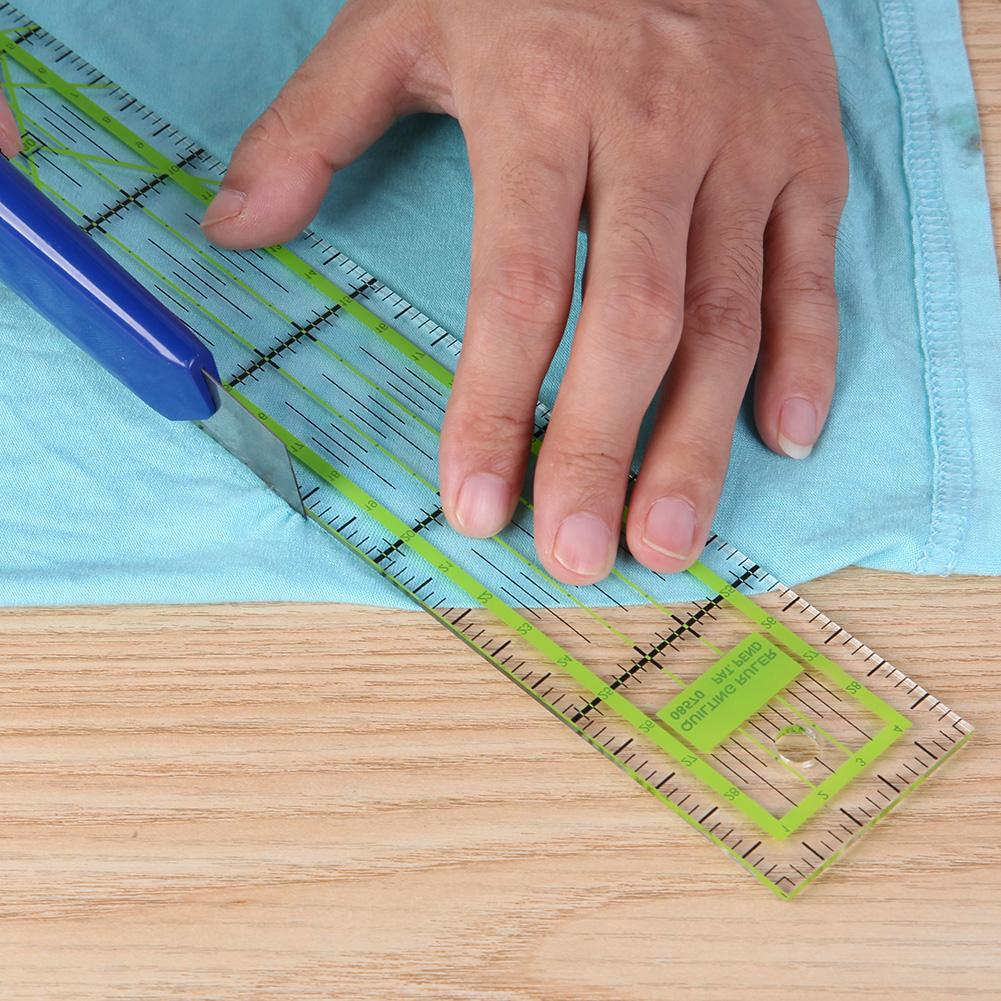 Double-color Ruler Patchwork Feet Tailor Yardstick Cutting Quilting DIY Handmade Sewing Tools Stationery Drawing Ruler 5x30 Cm