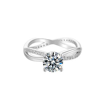 BOEYCJR 925 Silver Heart 1ct F color Moissanite VVS1 Elegant  Engagement Wedding Ring With national certificate for Women Gift