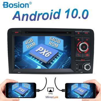 Autoradio GPS Navi Car Radio Stereo Audio 4GB+64GB For Audi A3 Car Multimedia 8P S3 RS3 Sportback 2003-2011 2din Android 10 DSP image