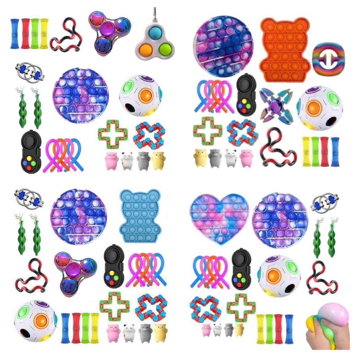 Toys-Pack It-Fidget-Toys-Set Relief-Antistress-Toys Marble Sensory-Stress Strings Pop