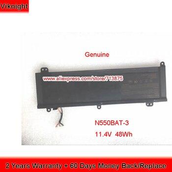 Genuine 11.4V 48Wh N550BAT-3 Battery for Clevo Aftershock M15 N550RC 6-87-N550S-4E42 6-87-N550S-4E4 F57-D1 F57-D2 F57-D3 M15V2