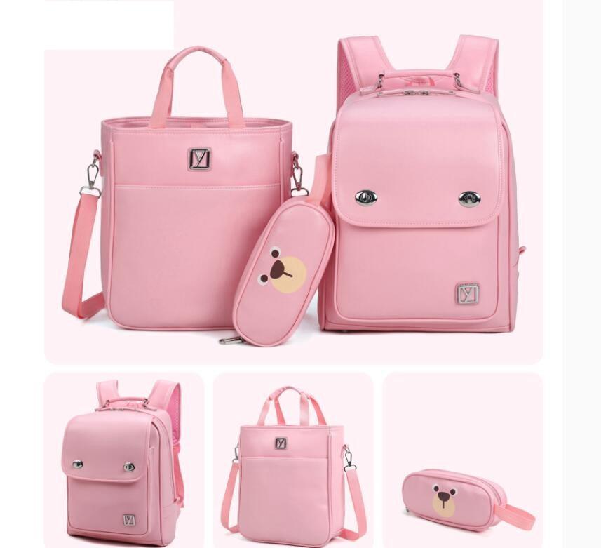 Japan School Backpack For Girls  Kid Orthopedic Backpack Book Bag Children PU Japanese School Backpack Kids School Backpack Bags
