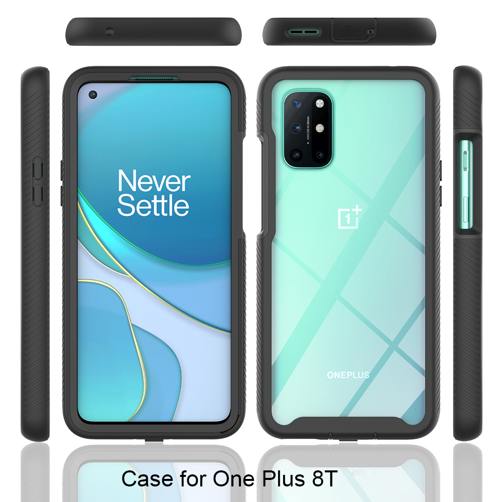 Hybrid Rugged Armor PC + TPU Silicone Shockproof Case for Oneplus 8T 8 7 7T Pro Soft Frame Clear Back Cover For Oneplus Nord 5G|Fitted Cases| - AliExpress