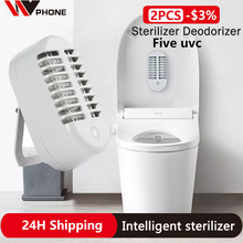 Ozone Deodorizer-Lights Sterilizer Disinfect UVC FIVE for Household Toilet Double-Lamp