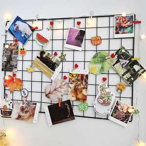 Wall-Decoration Iron-Iron-Grid Square Bedroom Modern Home for DIY Disp 35cmx35cm