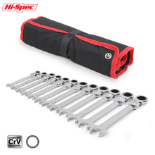 Hi-Spec 8-19MM 12pc Flexible Combination Wrench Set Ratchet Wrench Torque Wrench Spanner A Set of Keys Torquimetro Chave Catraca цена и фото