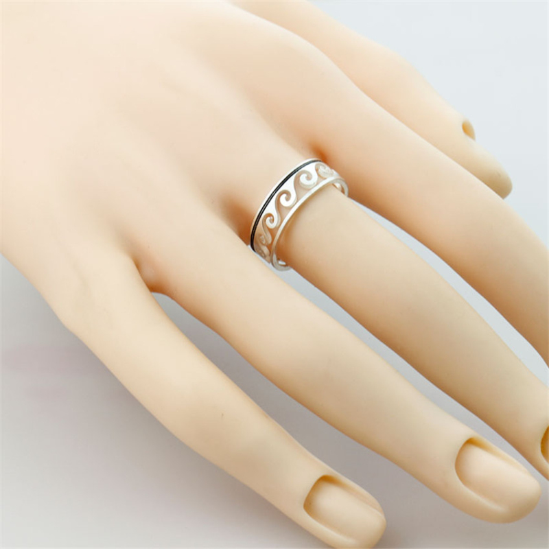 Adjustable Ocean Wave Rings For Women Anillos Mujer Beach Jewelry Stainless Steel Gold Ring Anelli Engagement Gift Bague Femme