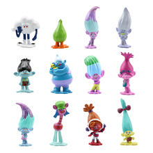 6/6/12 pcs/set Trolls Action Figure Toys Branch Critter Skitter Magic Fairy Wizard Room Cake Decoration Children Gift toys 6pcs lot trolls poppy branch biggie action figure toys cartoon moive brinquedos dreamworks trolls hug time poppy figure doll toy