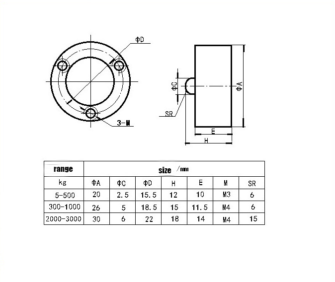 Mini Load Cell sensor 0-500KG pressure sensor Micro type Weight Sensor Pressure load cell Sensor