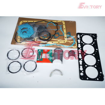 Para kubota V3600 v3600t V3600-DI-T anillo de pistón + kit completo de juntas + cojinete principal y con cojinete de varilla