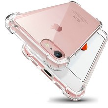 Transparent Protective Case For iPhone X XS max XR Crystal Full Protection Anti-Shock Cover For iPhone 5 SE 5s 6 6s 7 8 plus protective anti radiation aviation aluminum alloy bumper frame case for iphone 5 5s golden