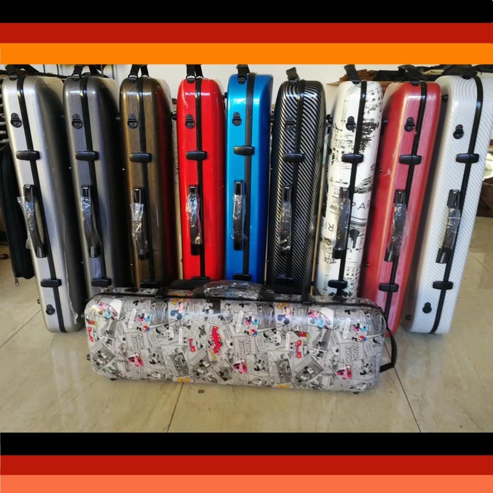 Factory wholesale price oblong violin case carbon fiber violin case 4/4