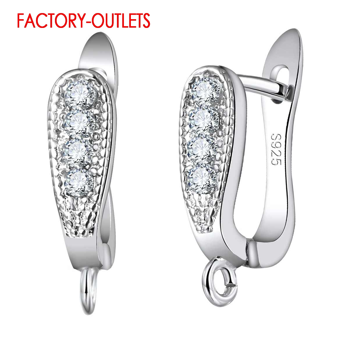 Factory Price Latest Trendy 925 Sterling Silver Earring Findings U-Shape Earrings Accessory Fashion Jewelry Findings For DIY