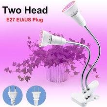 E27 lampy fito pełnozakresowa lampa do wzrostu roślin E26 żarówki Led sadzonka do nasion Hydro Flower szklarnia kryty do ogrodu LED Lights