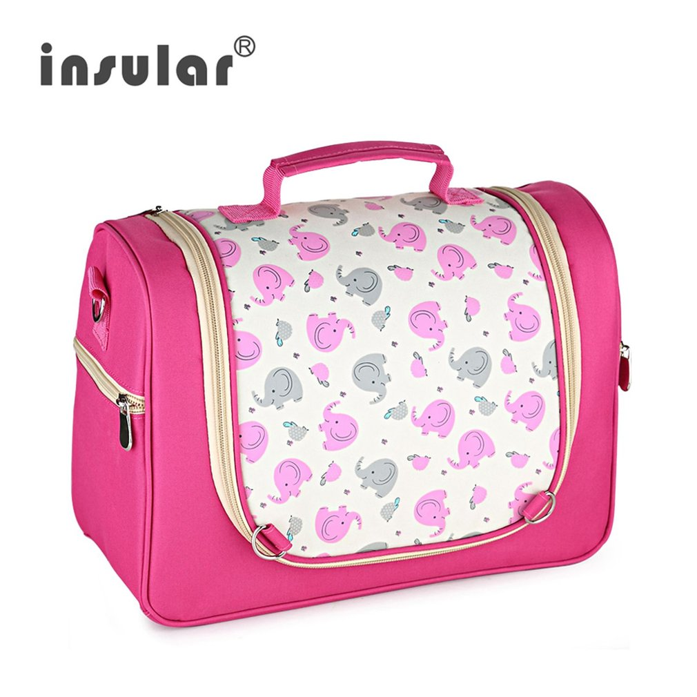 Baby Diaper Bags Maternity Bag For Disposable Reusable Fashion Prints Wet Dry Diaper Bag Double Handle Wetbags Storage Bag