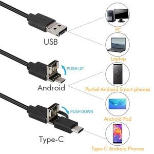 Image 2 - Cámara endoscópica 3 en 1 de 3,9mm para Android, Mini videocámaras USB de 2,0 MP, impermeable, boroscopio de 6 LED, cámara de inspección para Huawei y PC