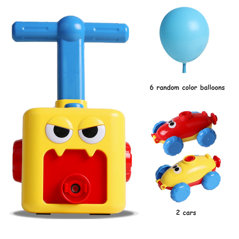 Children's inertial power balloon puzzle children's science education fun car baby fun toys 1-3 years old