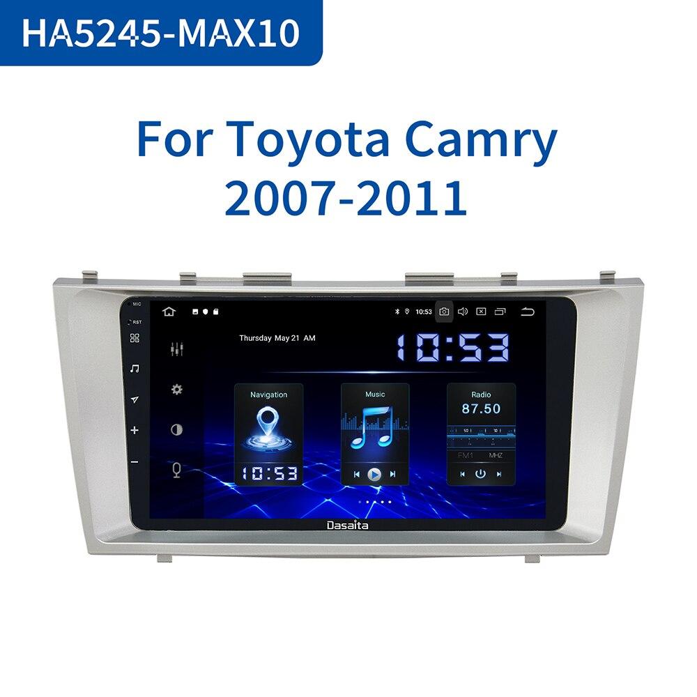 Dasaita-autorradio con GPS para coche, Radio con Android 10,0, 9 pulgadas, vídeo estéreo, 64GB ROM, para Toyota Camry 2006, 2007, 2008, 2009, 2010, 2011, 1080P