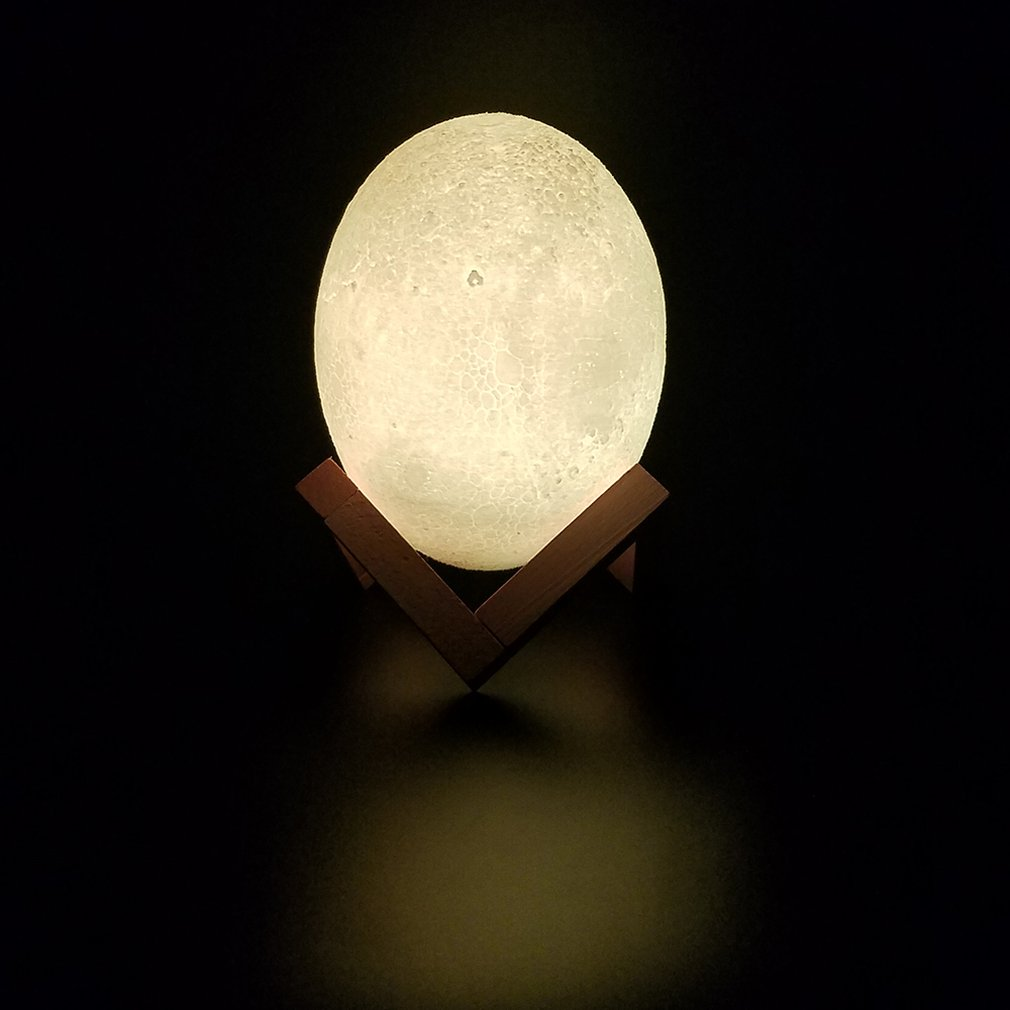 Remote Control Degradable Pla3d Printing Dinosaur Egg Light Moon Light Strange Night Light Table Lamp Led Light Birthday Gift