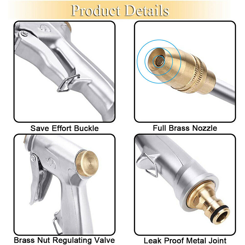 High Pressure Power Water Gun Car Washer Jet Garden Washer Hose Nozzle Washing Sprayer Watering Spray Sprinkler Cleaning Tool 5