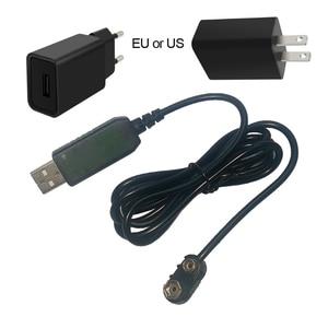 Image 1 - 9V Battery Eliminator USB Cavo 5V Boost per 9V Convertitore di Tensione Step up Volt Trasformatore DC regolatore di potenza Linea Per Il Tester